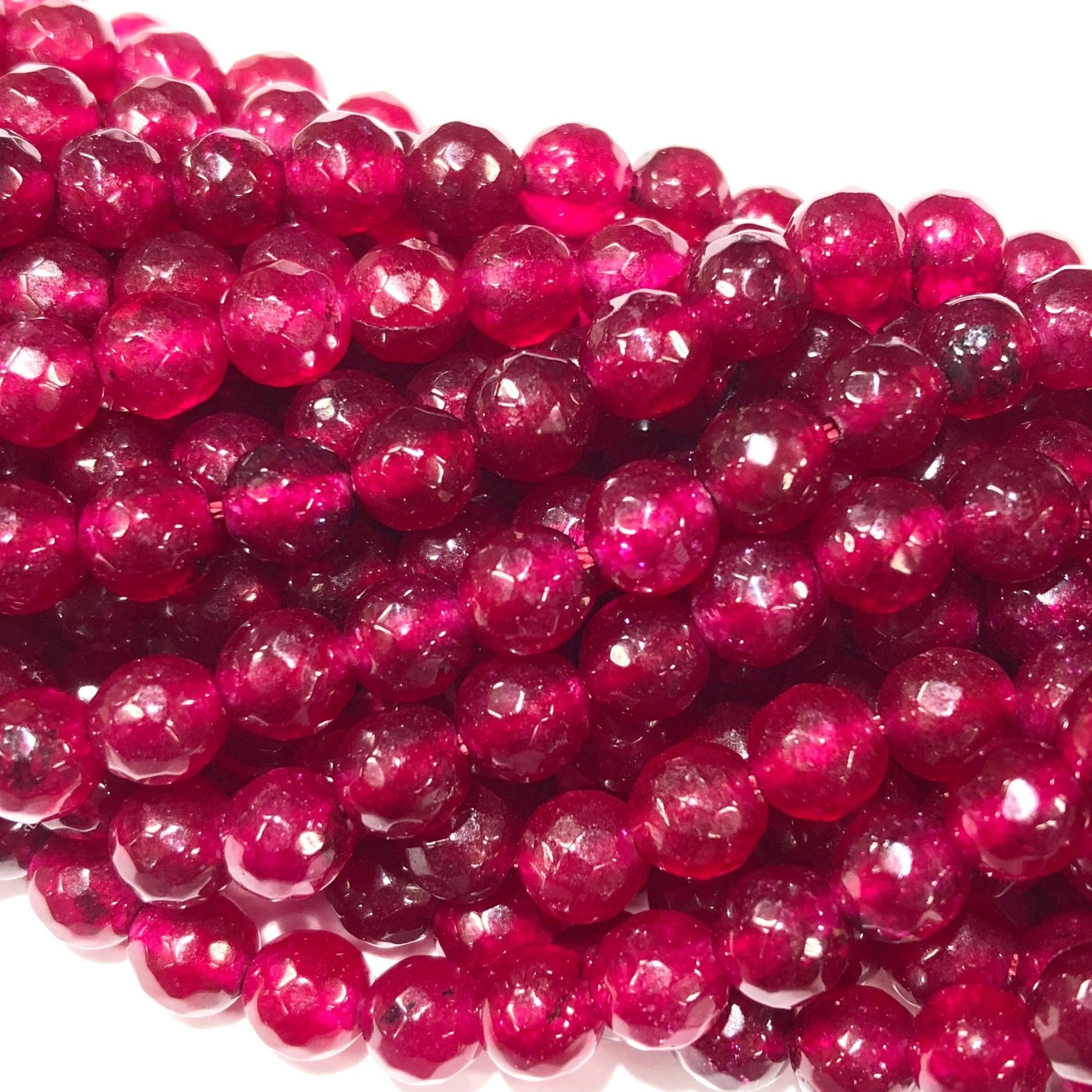 Common Jade Dyed Pomegranate 6mm Faceted