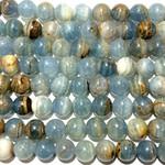Natural Blue Calcite Grade A 8mm Round