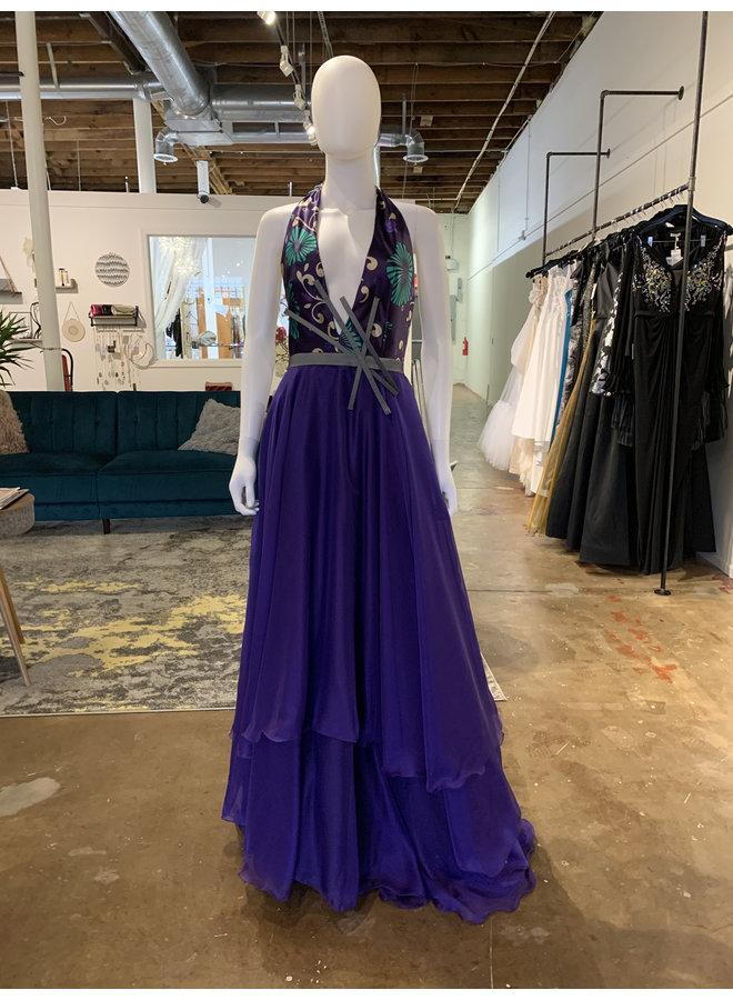 Jacaranda Flower Dress