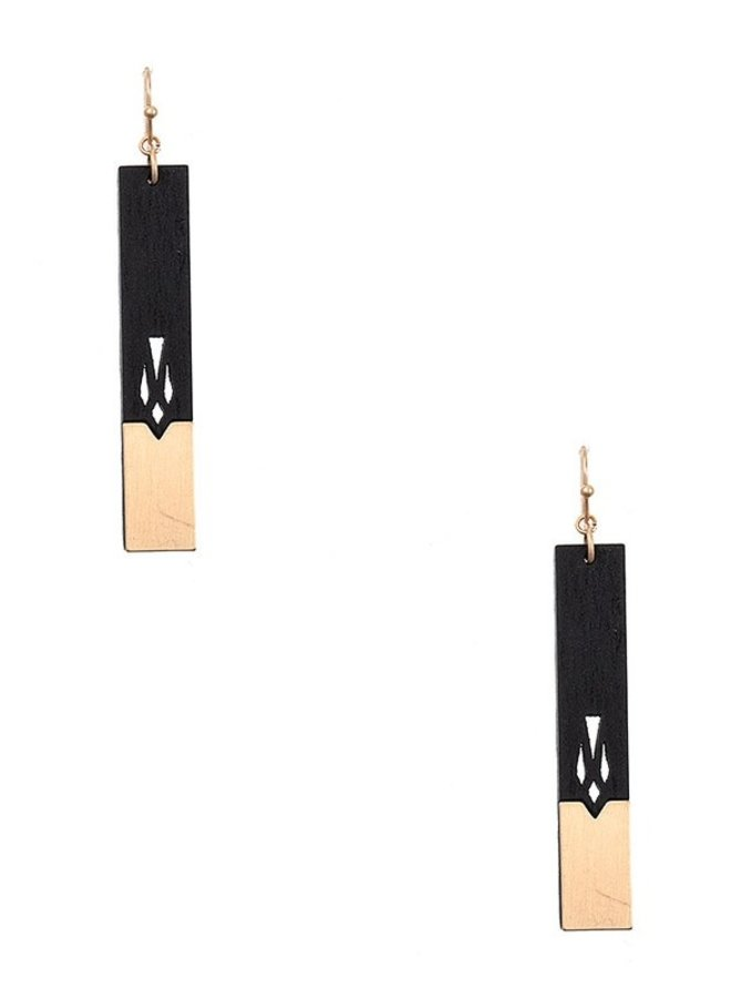 Wood & Metal Earrings