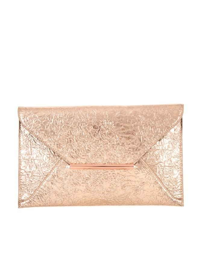 Rose Gold Envelope Bag