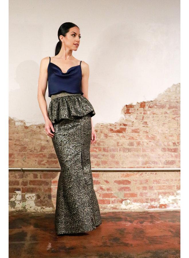 Mermaid Skirt with Peplum