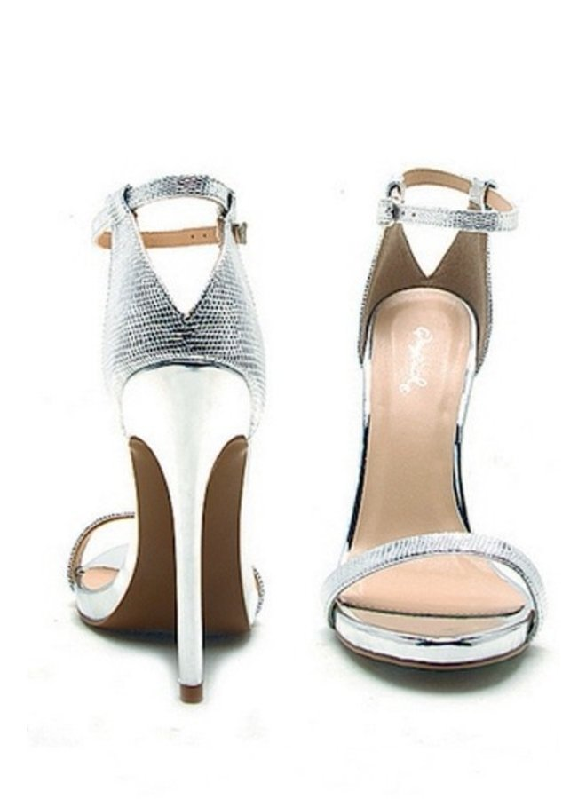 Open Toe Sandal with Back Detail