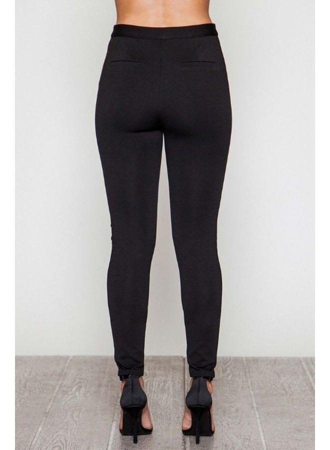 Spandex Black Cigarette Pants