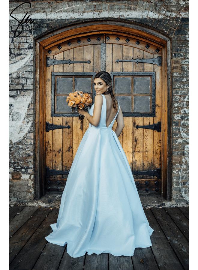 A-Line V-Neckline Floor Length Dress