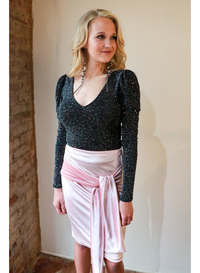Pink Velvet Skirt