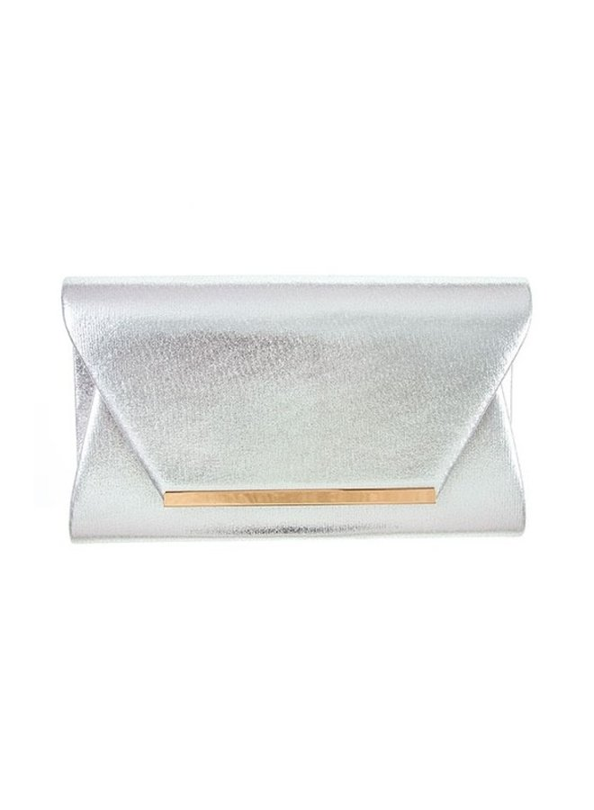 Silver with Gold Detail Clutch