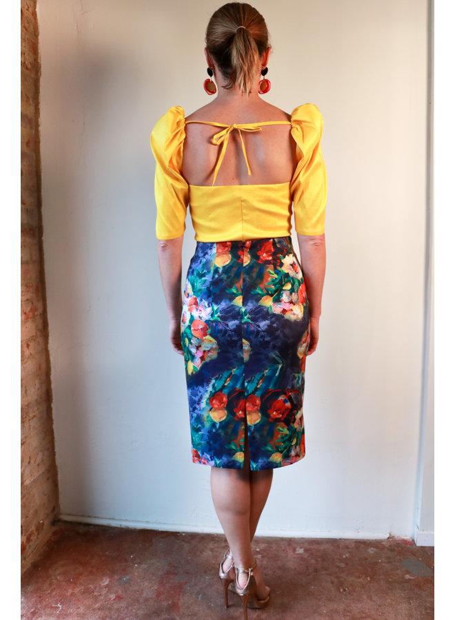 My Nona's Flowers Skirt