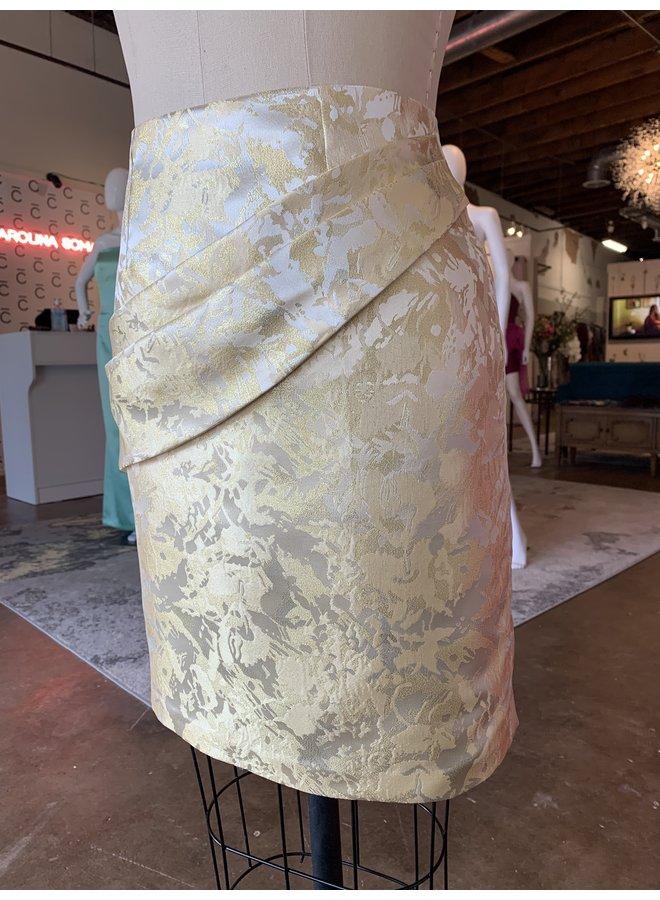Gold Short Brocade Skirt