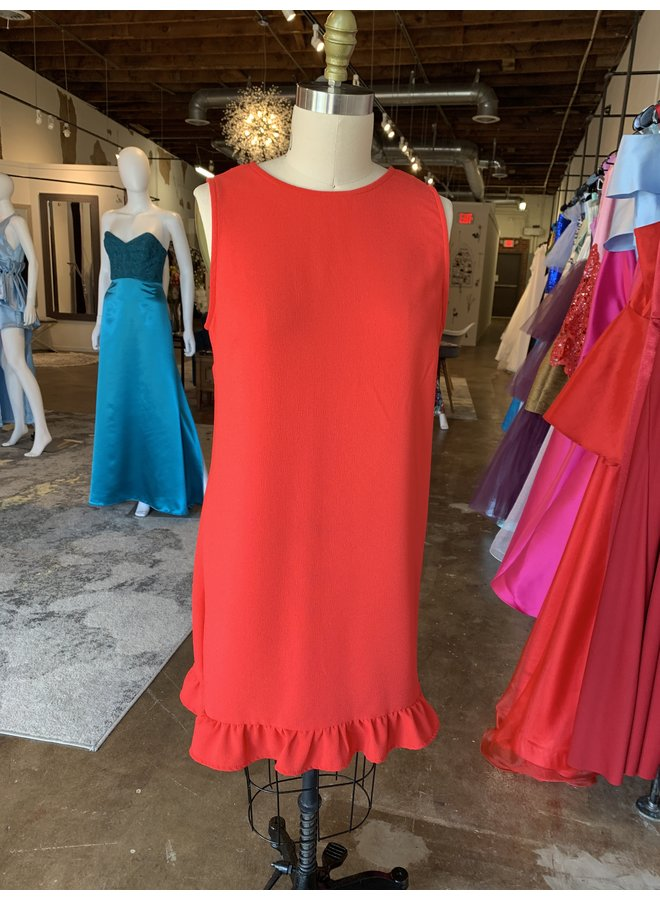 Sleeveless Ruffle Hem Short Dress