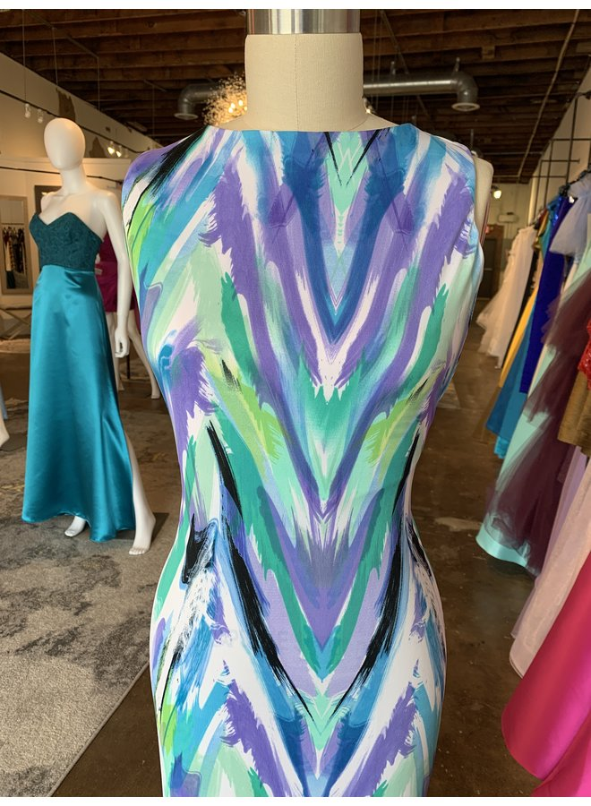 Dana Long Dress with Open Back