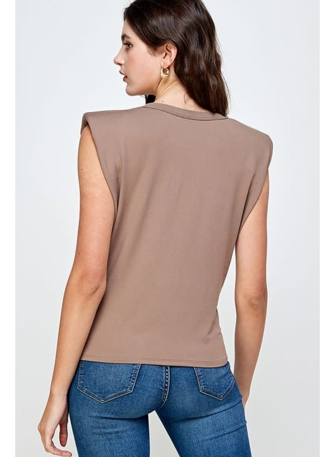 Padded Shoulder Top
