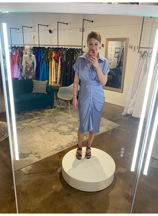 Button Up Front Tie Dress