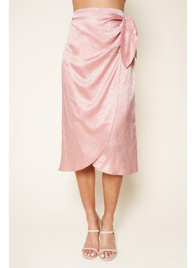 Satin Midi Wrap Skirt