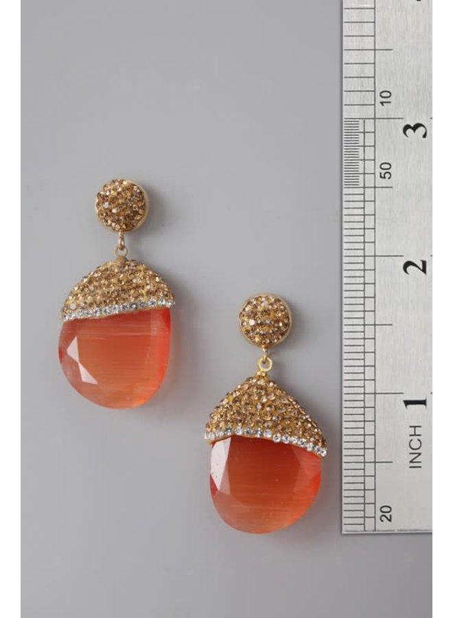 Cymophane Gemstone Earrings