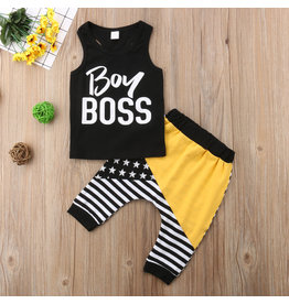 Boy Boss Short Sleeve Shirt & Pant Set