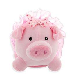 Plush Ballerina Pig Bank w/Sound