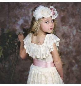 """Frilly Frocks """"Evelyn"""" Dress in Ecru"""