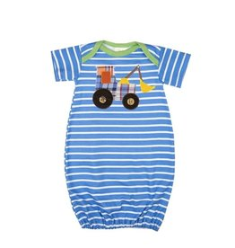 """Haute Baby Boy's """"Get the Scoop"""" Striped Gown"""