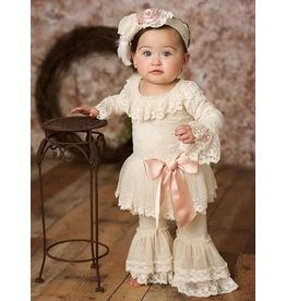 "Frilly Frocks ""Evelyn"" Tutu Pant Set in Ecru"