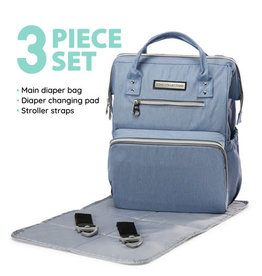 SoHo Collections Wide Open 6pcs Backpack Diaper Bag
