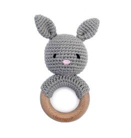 Cheengoo Bunny Maple Wood Rattle Teether