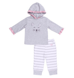 Asher and Olivia Hoodie 2pc Set-Cat