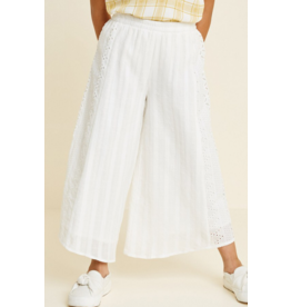 Hayden Los Angeles White Coulotte Pants