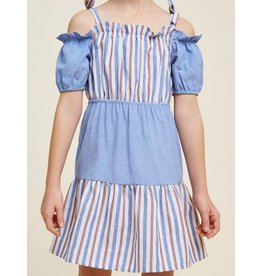 Hayden Los Angeles Blue Red Stripe Dress