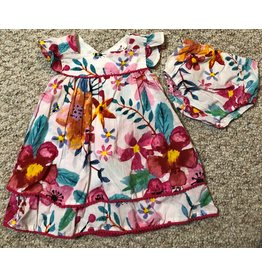 Watercolor Floral Dress w/Bloomers