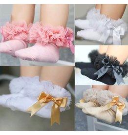 Tulle Ruffled Socks