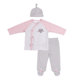 Asher and Olivia 3pc Baby Outfit-Heartbreaker