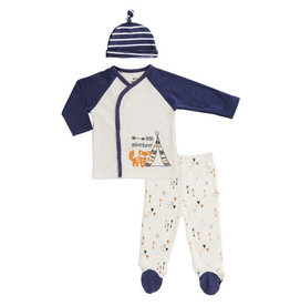 Asher and Olivia 3pc Baby Layette Set-Fox