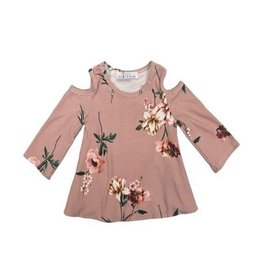 Bailey's Blossoms Karly Cold Shoulder Top-Mauve