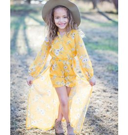 Bailey's Blossoms Piper Fly Away Romper-Mustard Yellow