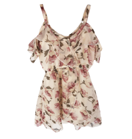 Bailey's Blossoms Cold Shldr Chiffon Dress Pink/ White Floral