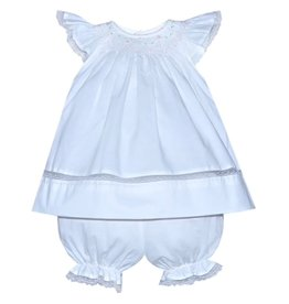 "Remember Nguyen Remember Nguyen ""Daphne"" Angel Bishop Dress-White"