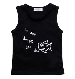 Baby Shark Short Set Black & White