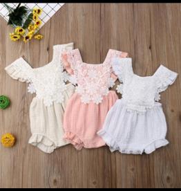Cotton Floral Lace Sunsuit