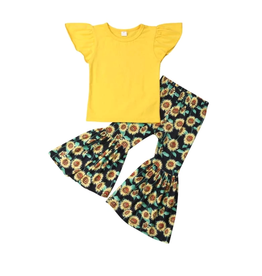 Yellow Top w/Sunflower Bell Pants
