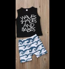 Waves Shades & Babes Short Set