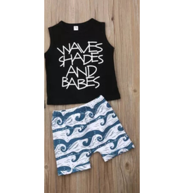 Waves Shades & Babes Short Set