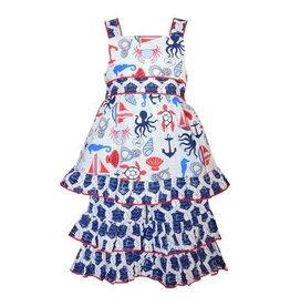 Ann Loren Nautical Sailor Seahorse Dress Outfit