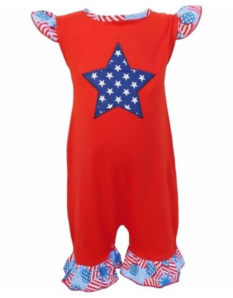 Ann Loren American Flag (Fourth) Romper