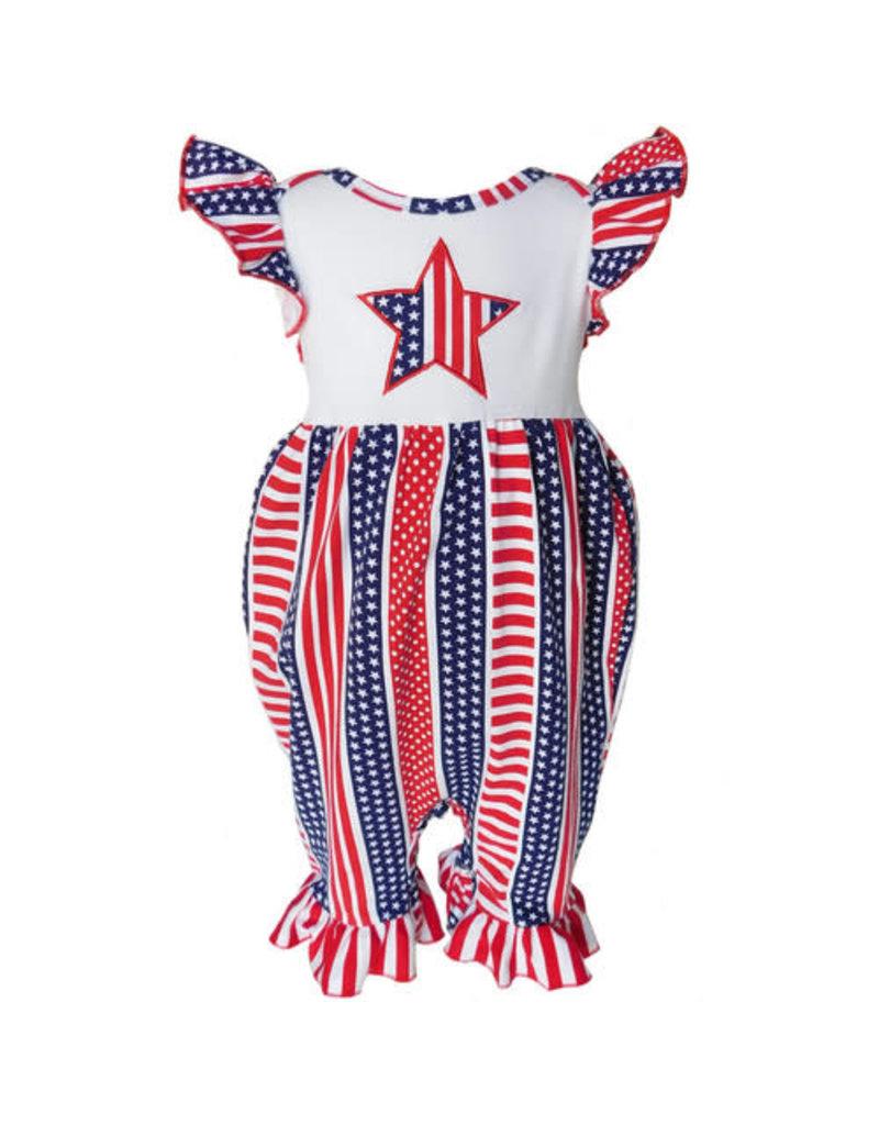 Ann Loren American Flag Glory Romper