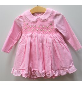 "Aurora Royal ""Bella Rosa"" Hand Smocked 3pc Dress Set"