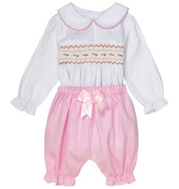 "Aurora Royal Aurora Royal ""Magda"" Hand Smocked Embroidered 2pc Outfit"