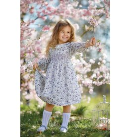 "Aurora Royal Aurora Royal  Traditional Floral Hand Smocked ""Consuelo"" Dress"