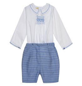 "Aurora Royal Aurora Royal Heritage Style ""Harry"" Hand Smocked Buster Suit"