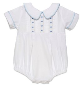 Aurora Royal Aurora Royal Boys White Cotton Hemstitched Embroidered Romper